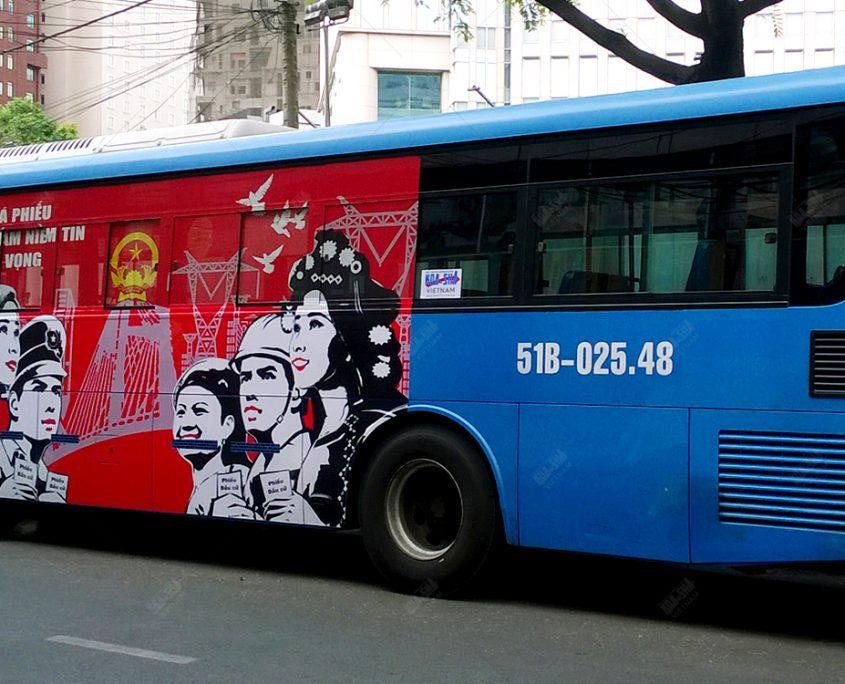 Koa-Sha Vietnam supports for community activity with propaganda bus ad